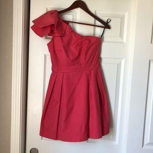 WORN ONCE! Warehouse One-Shoulder Pink Dress 🌹